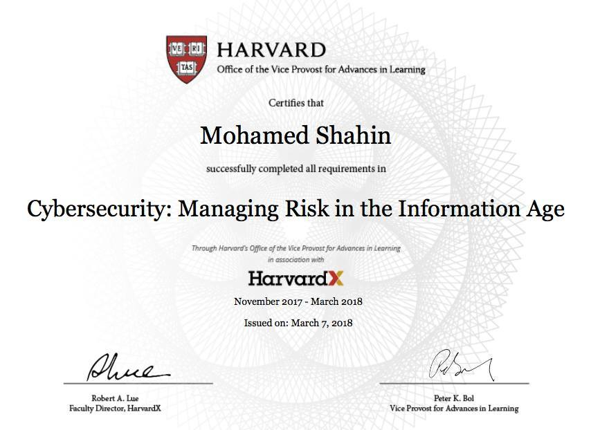 Harvard Cybersecurity