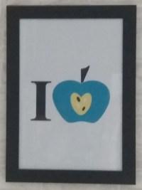 affiche- j'aime les pommes