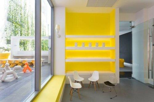 Mur jaune design