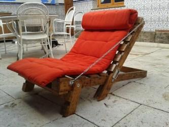 Palette chaise longue