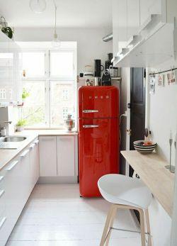 réfrigérateur rouge