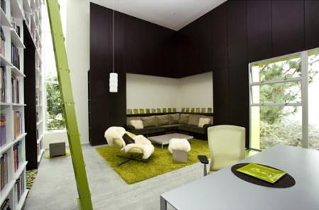 déco tapis textile vert