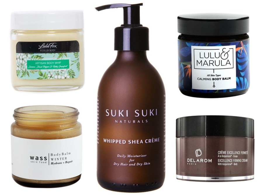 Natural body butters and balms