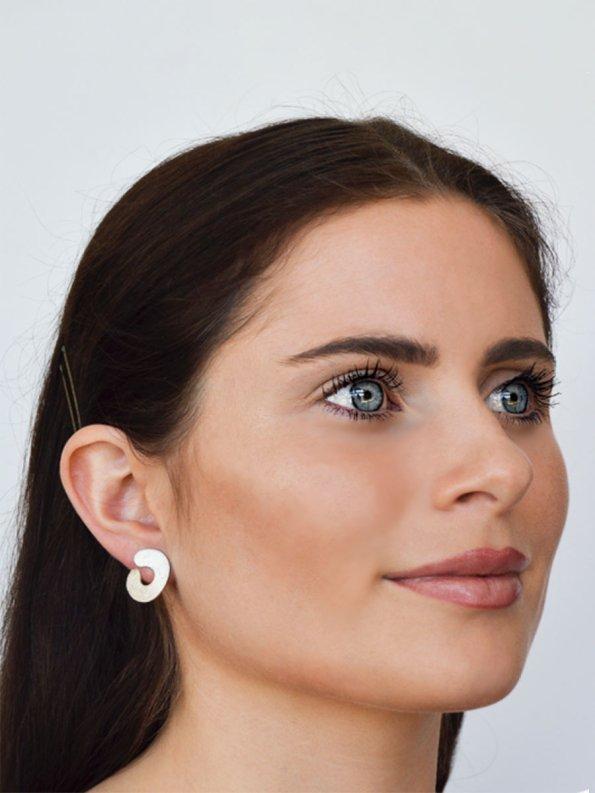Kirsten Goss Do Not Disturb Earrings on Model