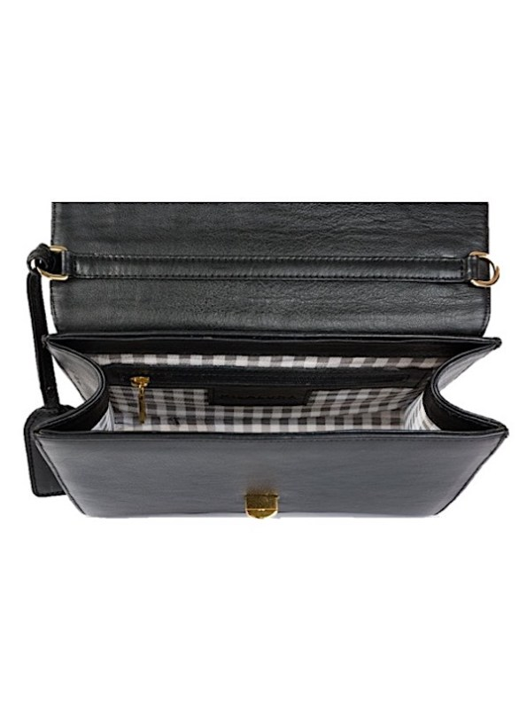 Milaluna Black Leather Geo Inside
