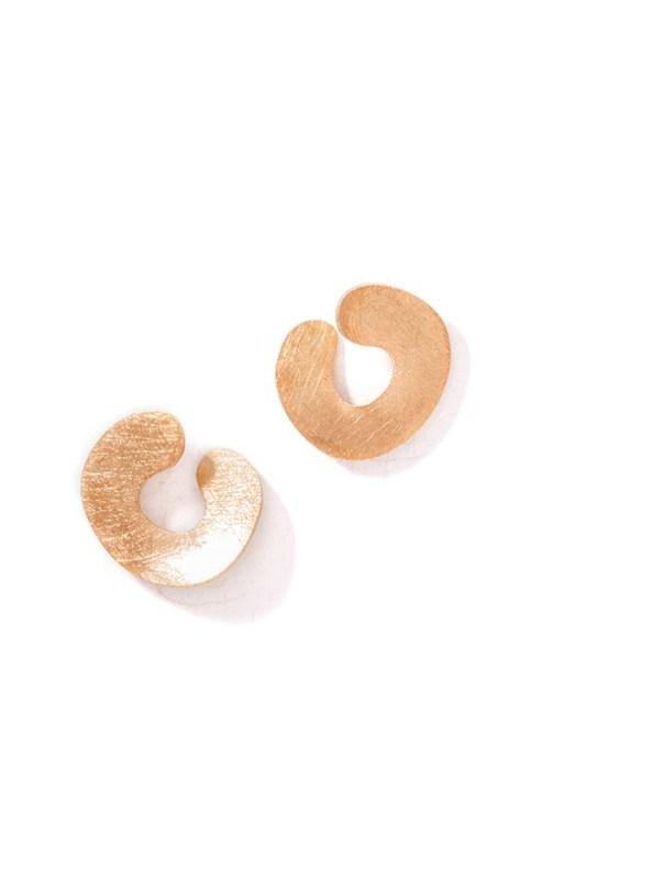 Kirsten Goss Do Not Disturb Earrings Rose Gold Vermeil