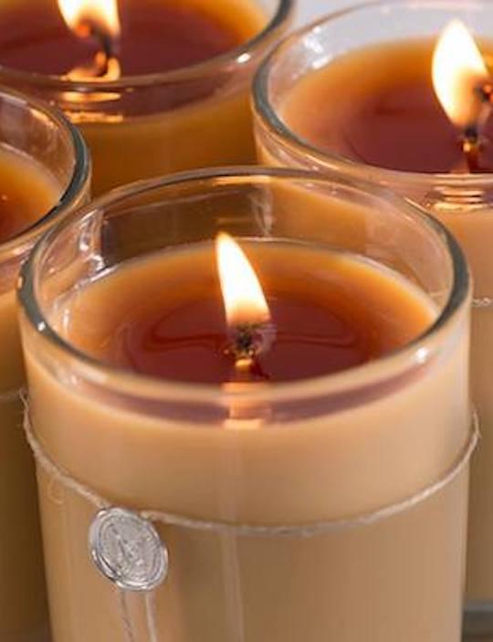 Votivo Aromatic candles burning