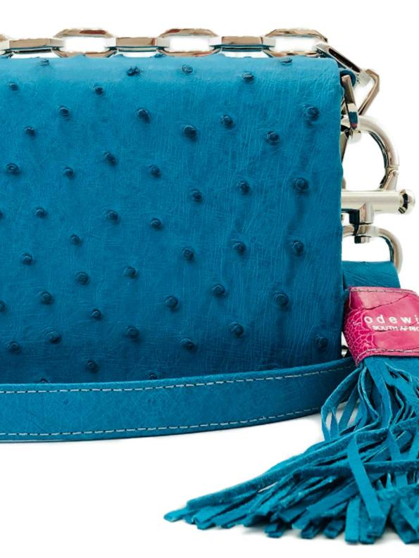 Lodewijk Turchese Blue Flap Bag Closeup