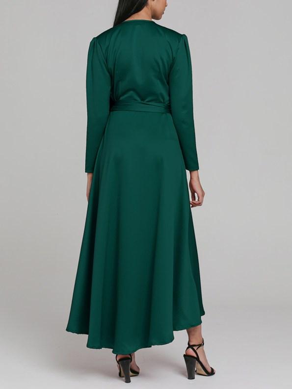 Mareth Colleen Meg Wrap Dress Green 1