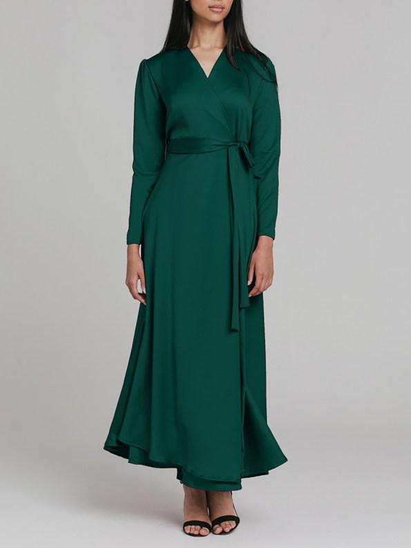 Mareth Colleen Meg Wrap Dress Green 3