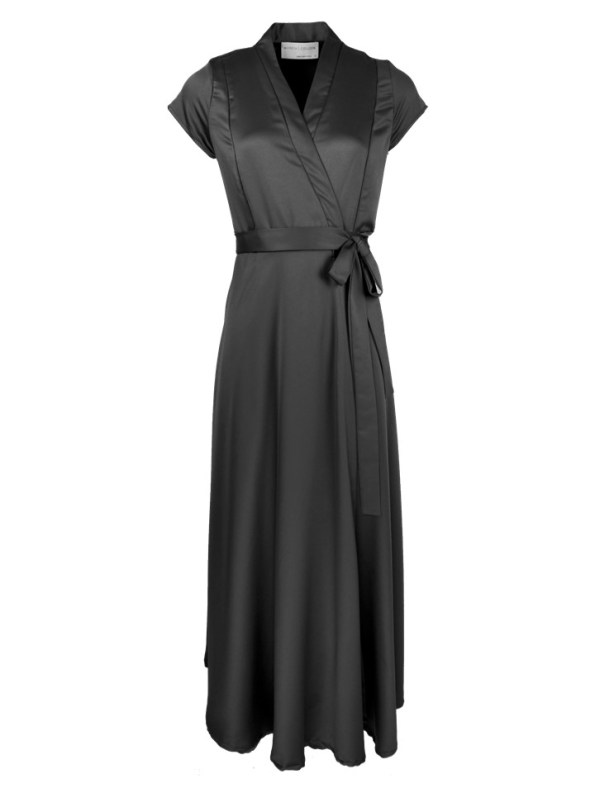 Mareth Colleen Philly Wrap Dress Black Shopfront