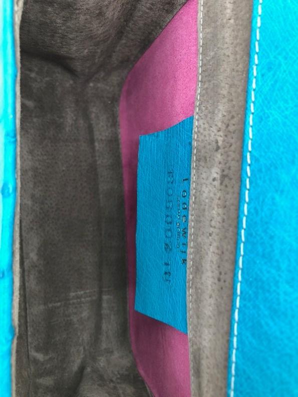 Lodewijk Turchese Blue Flap Bag Inside