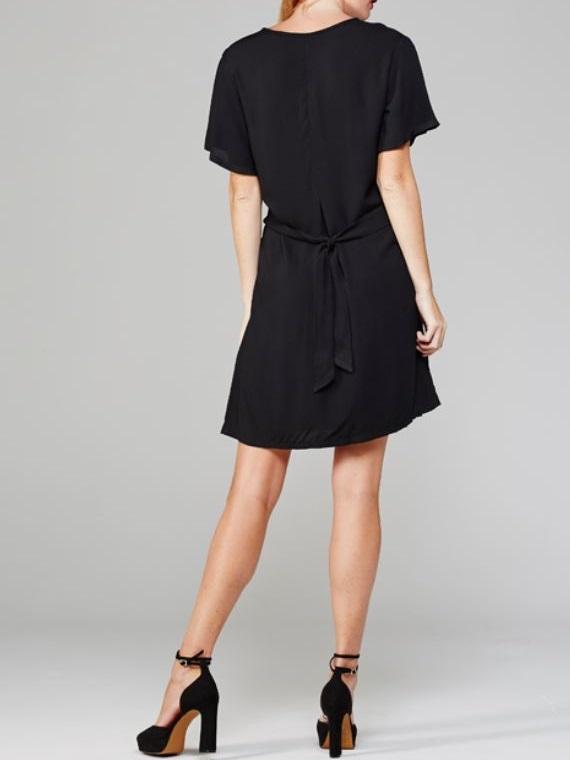 April Dress Black Back
