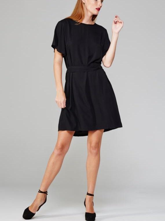 April Dress Black Front
