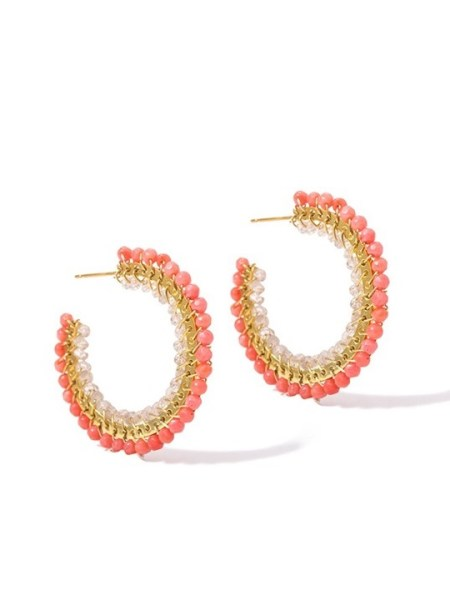 Kirsten Goss Falco Earrings Coral