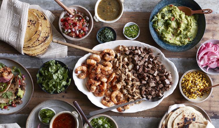 Taco bar feast