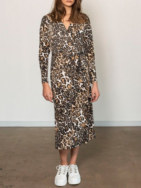 Leopard print wrap dress South Africa