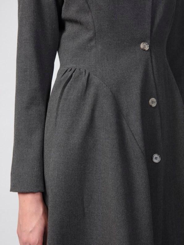 Vivienne Coat Anthracite Closeup