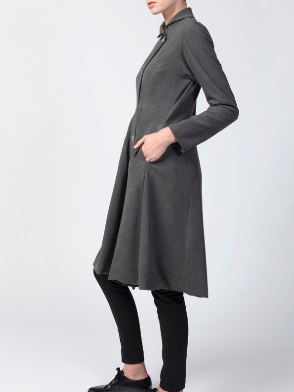 Vivienne Coat Anthracite Side
