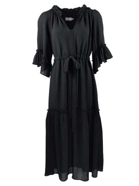 Smudj Elody Maxi Dress Black Shopfront