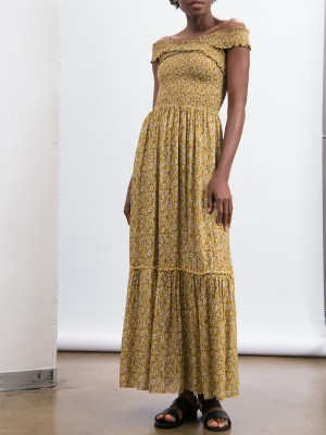 Smudj Vacay Dress Gold Front