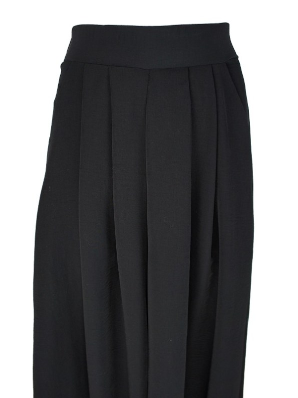 Erre Stride Wide Leg Pants Black Closeup