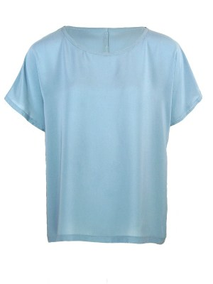 Blue Boat neck T-shirt