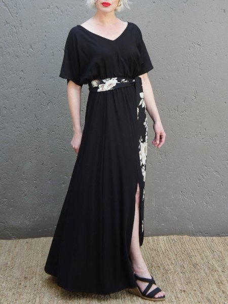 Black Maxi dress with slit South Africa