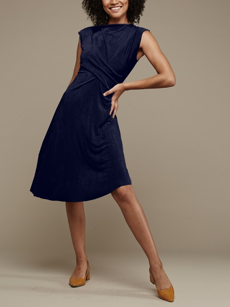 Mareth Colleen Faye Dress Navy Front
