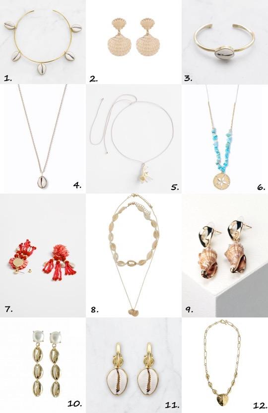 Shell jewellery trend