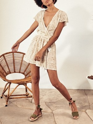 White playsuit by Asha Eleven Cape Town