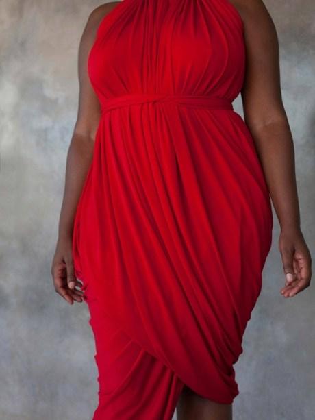 Multi-way red dress