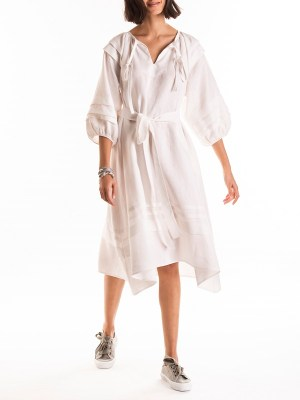 Smudj Iva Dress White Linen Side