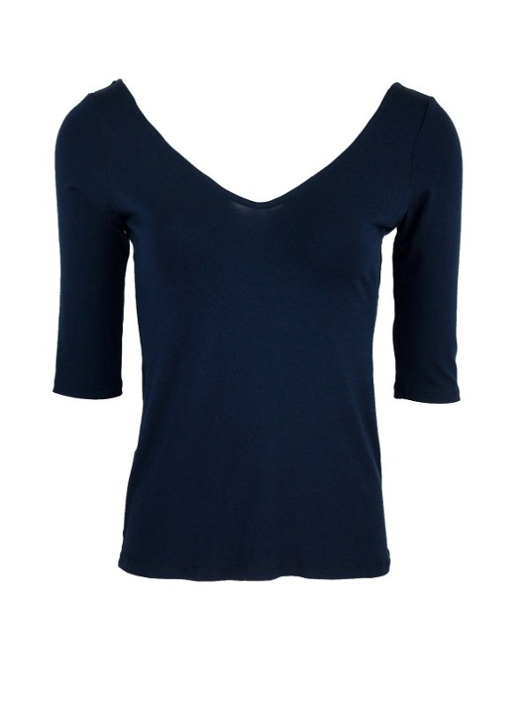 Smudj Ballet Top French Navy Shopfront