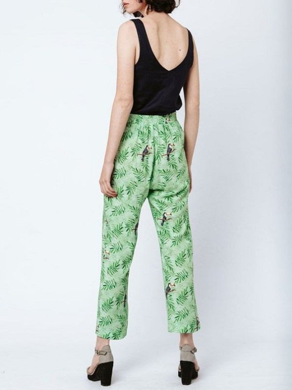 Good Clothing Kandy Pants Green Toucans Back