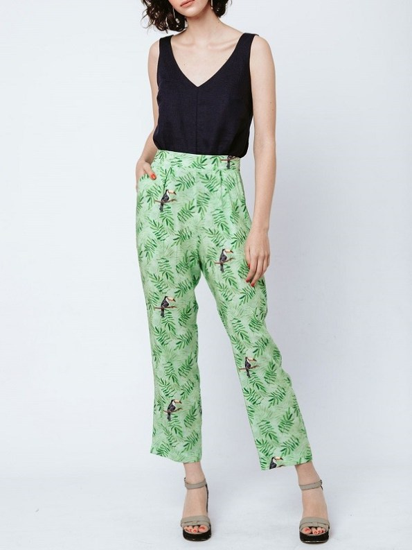 Good Clothing Kandy Pants Green Toucans Front