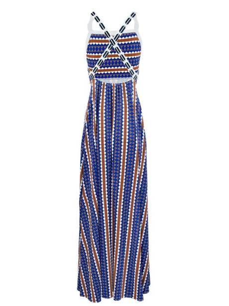 African Style Story Evora Maxi Dress Back