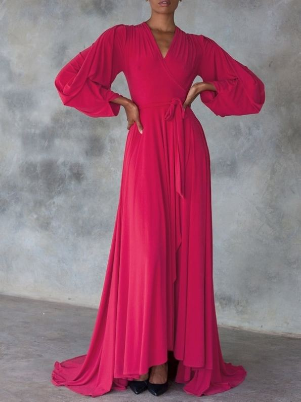 Erre Dancing Lady Maxi Dress Pink Front