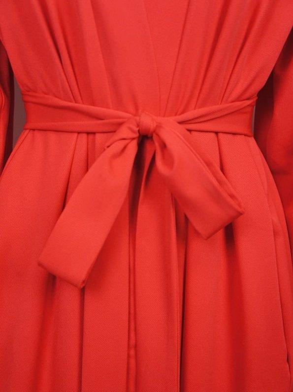 Erre Gather Coat Coverup Fire Red Closeup