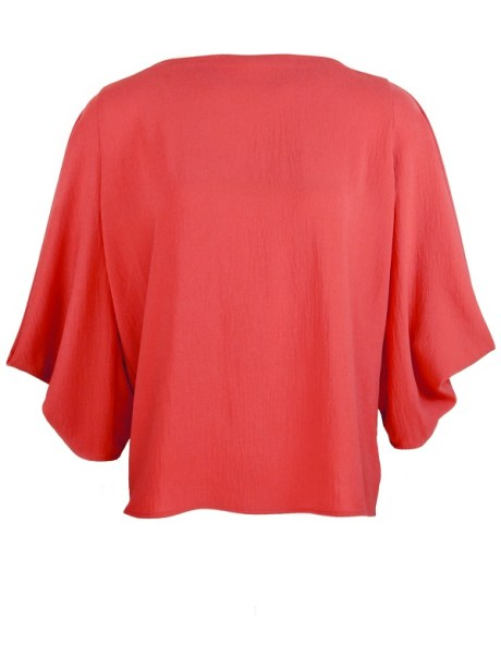 Erre Power Sleeve Blouse Cranberry