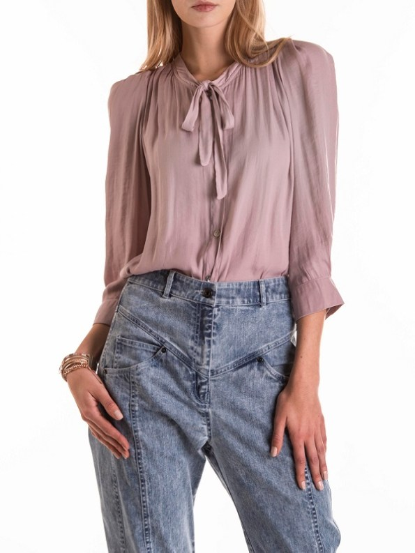 Smudj Maysi Jean Vintage Stone Wash Cropped Front