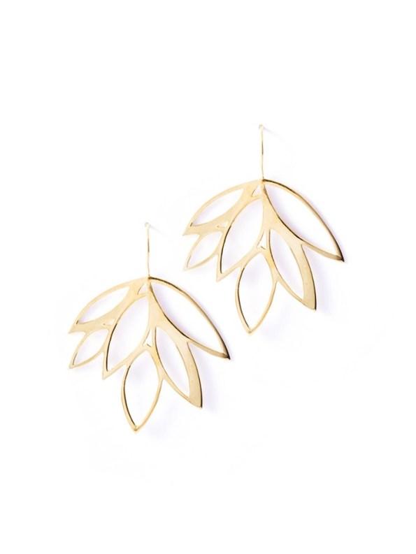 Kirsten Goss Balti Earrings Gold