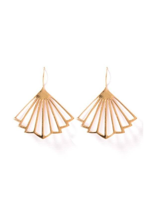 Kirsten Goss Kenzo Earrings Rose Gold