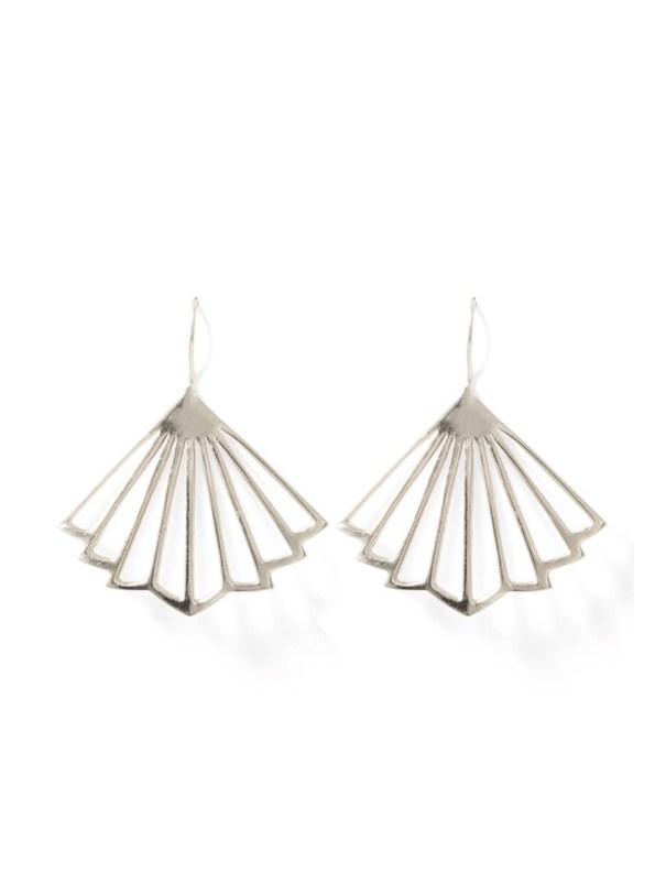 Kirsten Goss Kenzo Earrings Silver