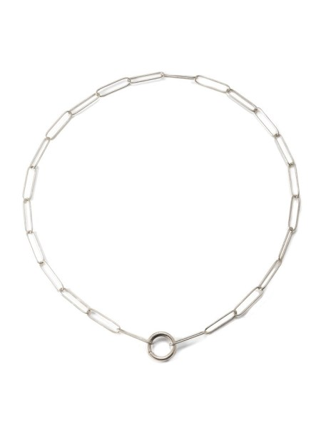silver linked necklace
