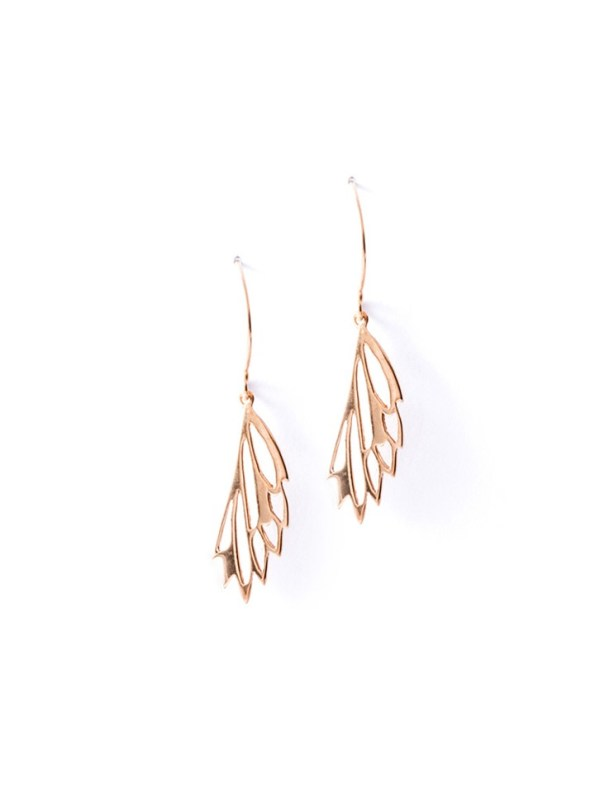 Kirsten Goss Mini Fragma Earrings Rose Gold