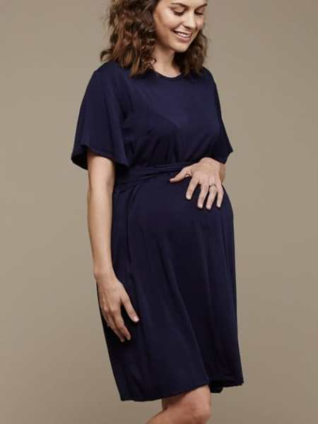 Mareth Colleen April4Mom Dress Navy Side
