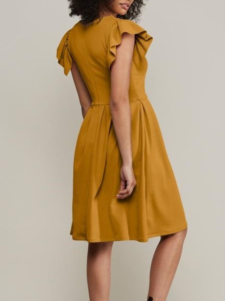 Yellow flare dress South Africa