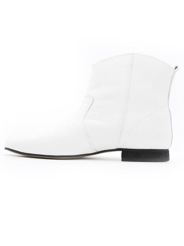 House of Cinnamon Cowboy Ankle Boot White Reverse