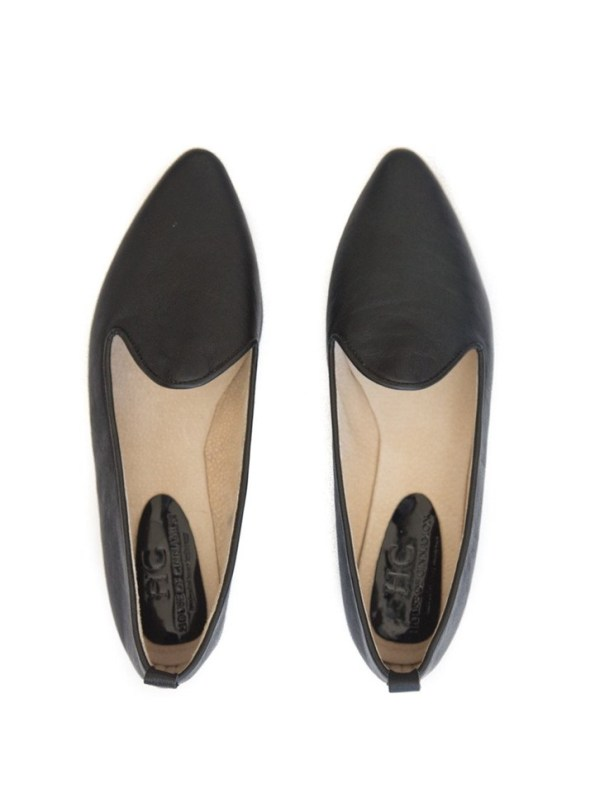 House of Cinnamon Diana Pointed Loafter Black Pair